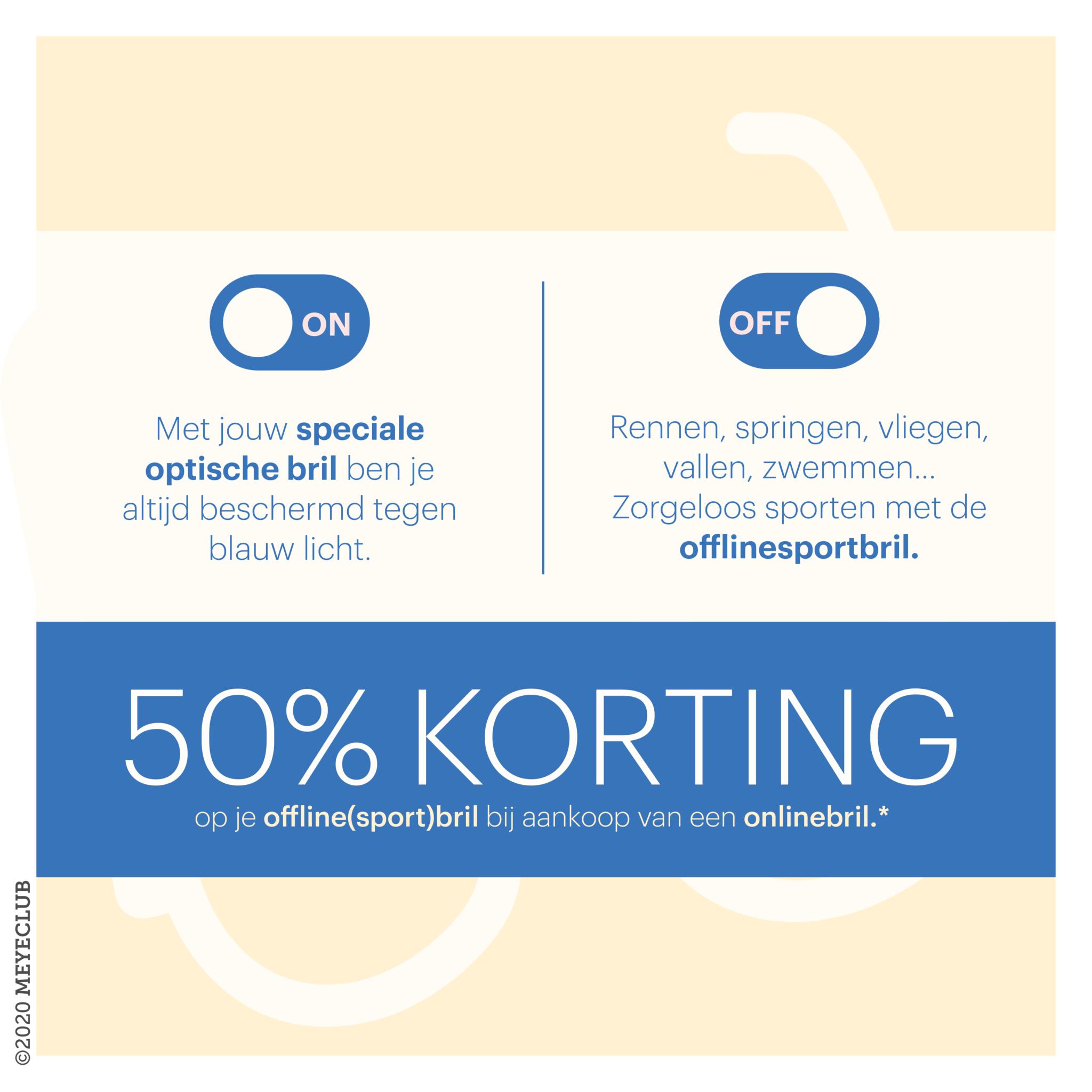 50% korting op uw offline(sport)bril*