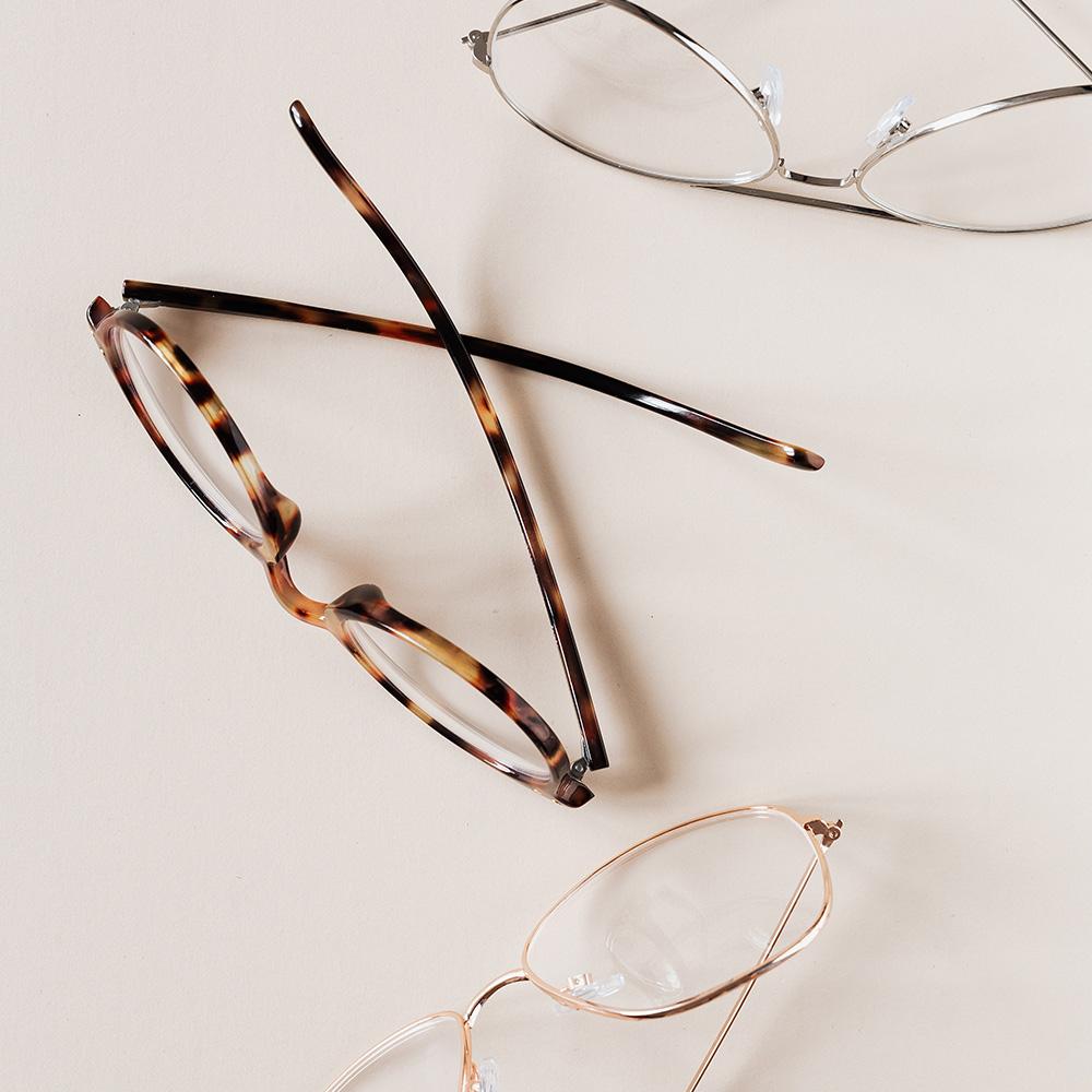 Verschillende brillenglazen